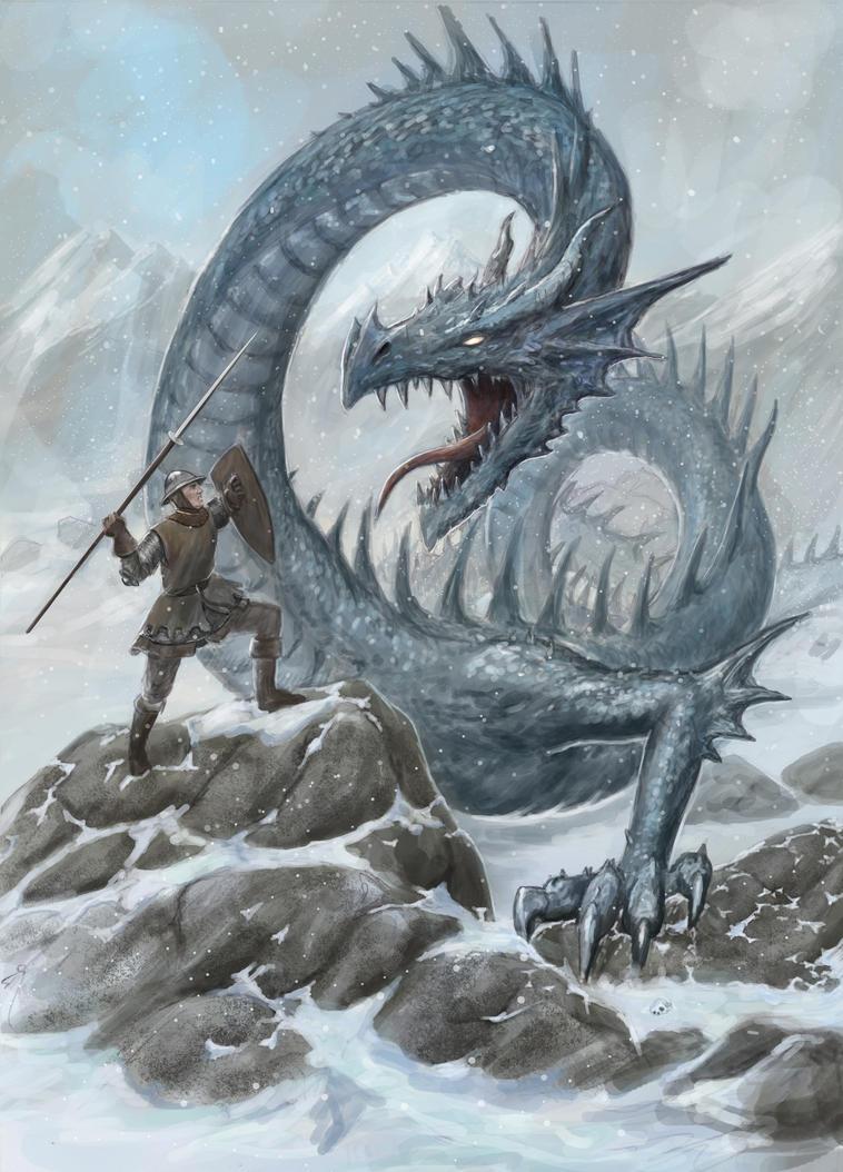 Lindworm Dragon: Ice Linnorm Dragon By Dashinvaine On DeviantArt