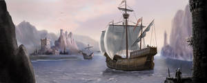 Merchant Ship by dashinvaine