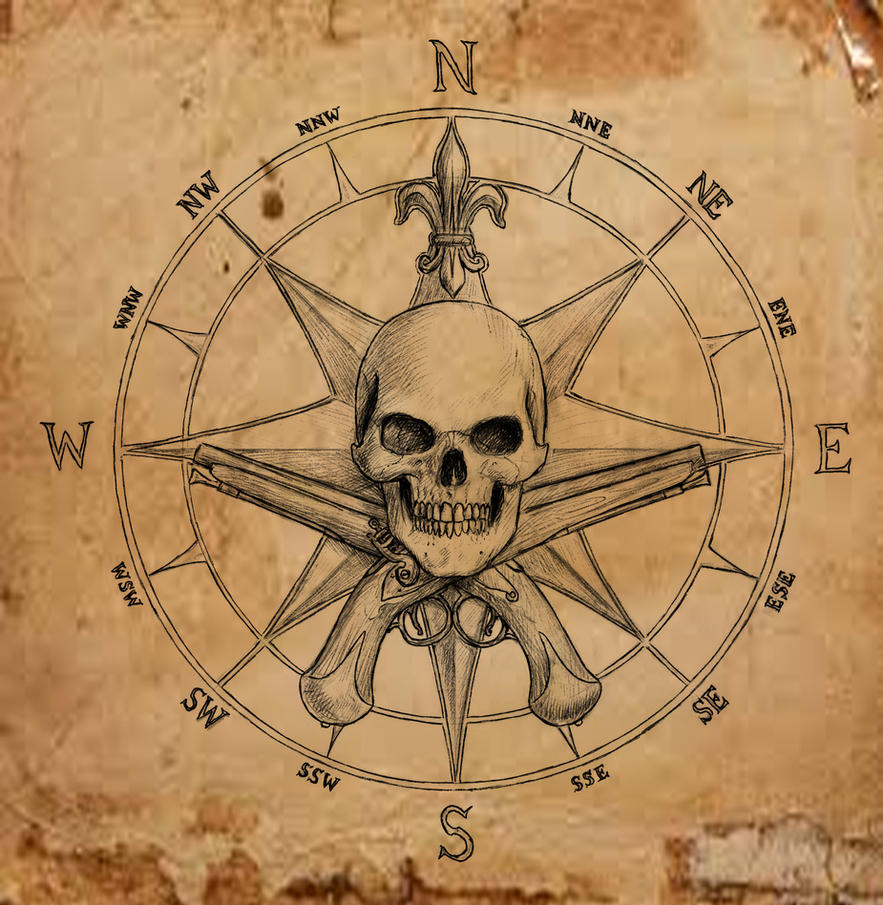 pirate compass symbol by dashinvaine on deviantart. Black Bedroom Furniture Sets. Home Design Ideas