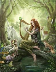 Lynn d'Vadalis in the fairy wood.