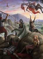 Arawn and Amaethon rescuing Cerridwen by dashinvaine