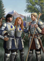 Trio In Armour by dashinvaine