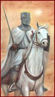 Templar on White Horse