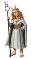 Fantasy Hobbit Druidess