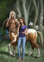 Centaur and Girl by dashinvaine
