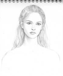 Female face sketch by dashinvaine