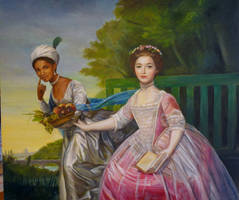 Dido Belle and Lady Eliz. Murray, after D Martin
