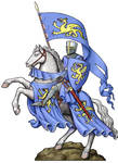 Knight on Rearing Horse