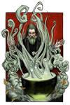 Mage with cauldron
