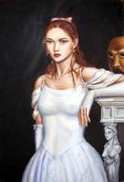 Christine in white dress by dashinvaine