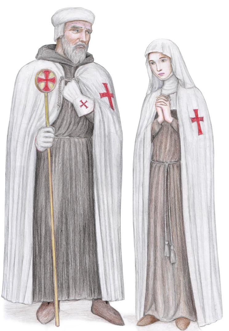 Templar Master and Nun by dashinvaine