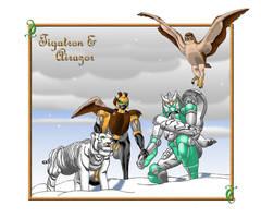 Tigatron and Airazor by O-O-P