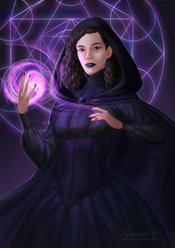 Commission: Gothic witch
