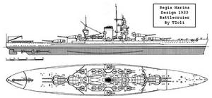 Battlecruiser Littorio Style by Tzoli