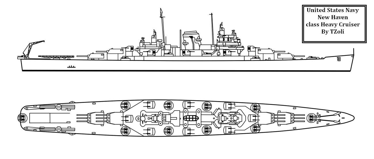 New Haven Class Heavy Cruiser by Tzoli