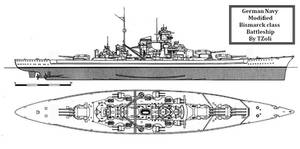 Modified Bismarck class Battleship