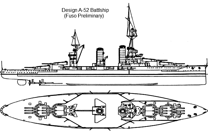 Battleship Design A-52 by Tzoli