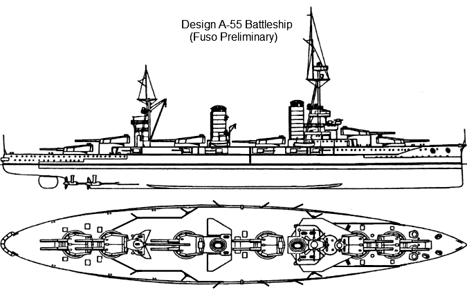 Battleship Design A-55 by Tzoli