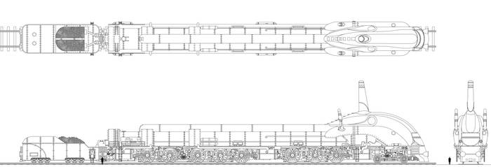 The Mighty Transarctica Locomotive with Tender by Tzoli
