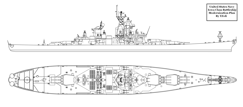 Strongest Thing That Modernized Iowa Battleship With