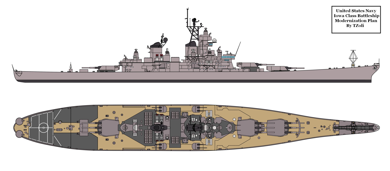 Iowa class 2nd refit proposal Warship Projects WorldModern Battleship Design