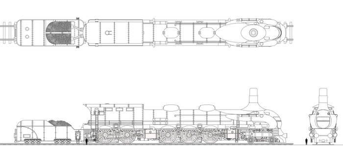Viking Union Freight Locomotive with Tender