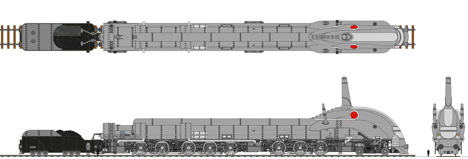 The Mighty Transarctica Locomotive Coloured