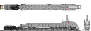 The Mighty Transarctica Locomotive Coloured by Tzoli