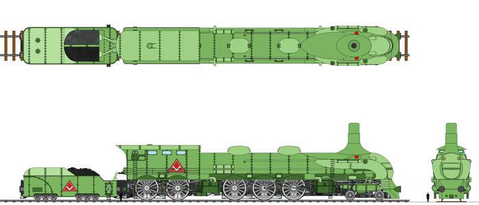 Viking Union Freight Locomotive Coloured by Tzoli