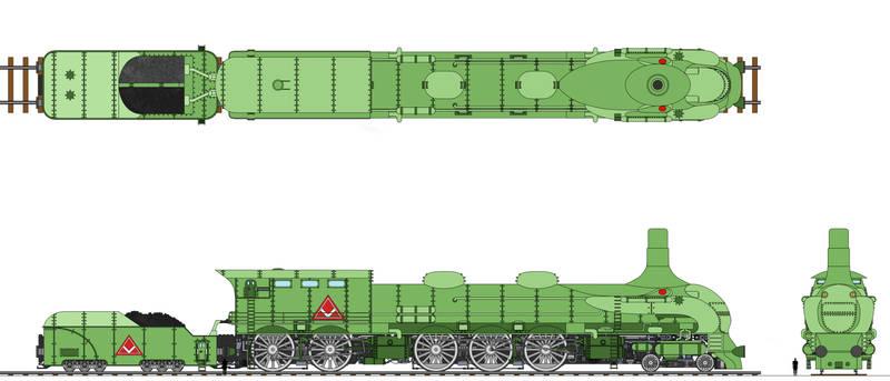 Viking Union Freight Locomotive Coloured