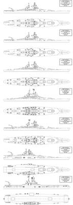 Jean Bart Battleship Variants