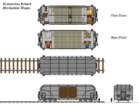 Transarctica Merchandise Wagon technical view by Tzoli