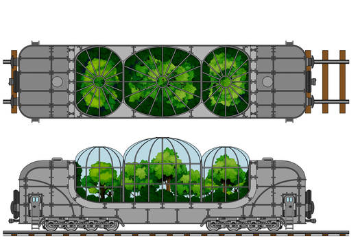 Transarctica Bio-Greenhouse Wagon technical view