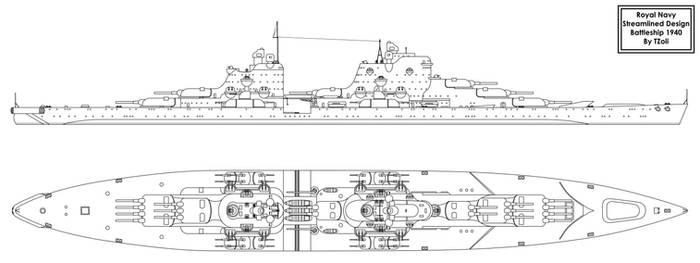 Streamlined Battleship of the Future