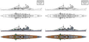 Myoko class heavy cruiser preliminary variants