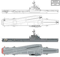 Modernised Unryu class Aircraft Carrier by Tzoli