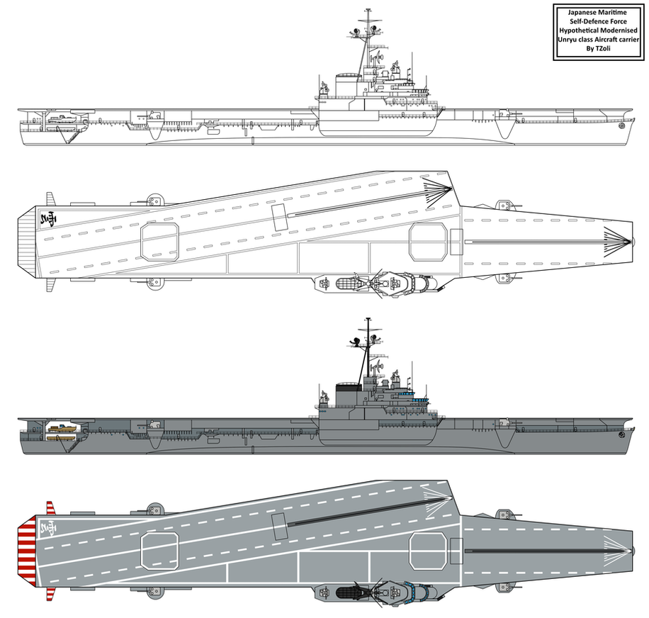 Modernised Unryu Class Aircraft Carrier By Tzoli On Deviantart