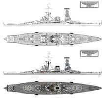 Guided Missile Battleship Kii by Tzoli