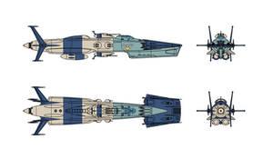 Isokaze class Refit EDF Shimakaze by Tzoli