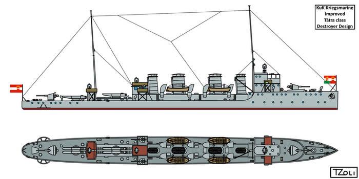 Improved Tatra class Destroyer Design