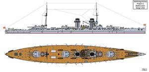 Austro-Hungarian Project Ia Battlecruiser Design