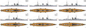 Austro-Hungarian Project I Battlecruiser Designs by Tzoli