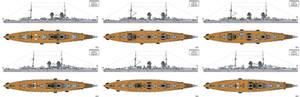 Austro-Hungarian Project I Battlecruiser Designs