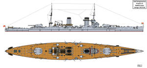 Austro-Hungarian Project VI Battlecruiser Design by Tzoli