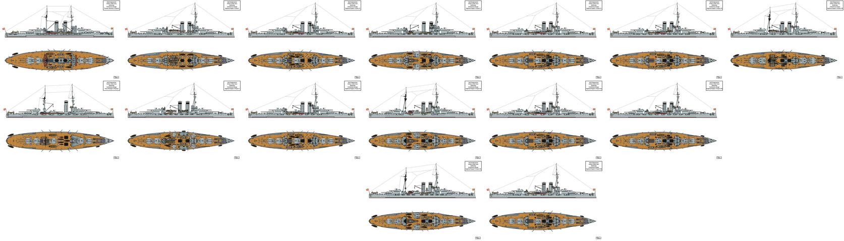 Viribus Unitis Battleship Preliminary Designs by Tzoli