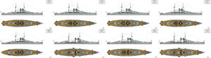 Ersatz Monarch Preliminary designs I-VIII