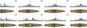 Ersatz Monarch Preliminary designs IX-XVI by Tzoli
