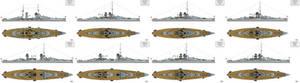 Ersatz Monarch Preliminary designs IX-XVI