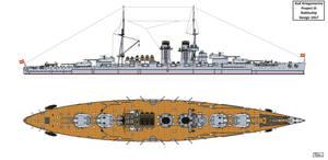 Austro-Hungarian Project III Battleship Design