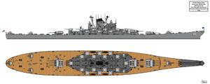 Anti-Aircraft Cruiser-Battleship USS Kentucky G